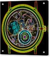 Coloured X-ray Of A 17-jewel Wrist-watch Acrylic Print