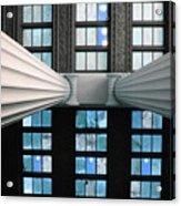 2 Column Stain Blue Acrylic Print