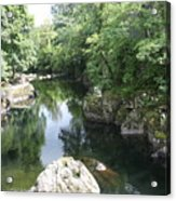 Conwy River Near Betws Y Coed.  Acrylic Print