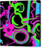 Cosmic Dj Acrylic Print by Cristophers Dream Artistry