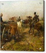 Cossacks Returning Home On Horseback Acrylic Print