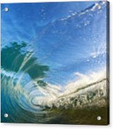 Crashing Wave Tube Acrylic Print