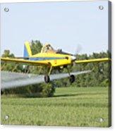 Crop Dusting Plane Acrylic Print
