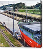 Crossing Panama Canal Acrylic Print