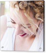 Cute Curly Blond Girl  Acrylic Print