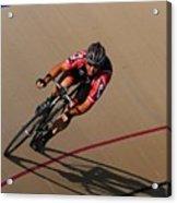 Cycle Racing On The Curve Acrylic Print