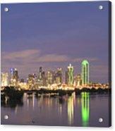 Dallas Skyline Twilight Acrylic Print