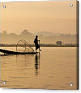Dawn On Inle Lake Acrylic Print