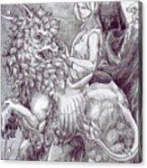Death Devil And Maiden Acrylic Print