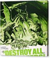 Destroy All Monsters, Aka Kaiju Acrylic Print by Everett
