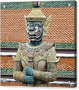 Detail From A Buddhist Temple In Bangkok Thailand Acrylic Print