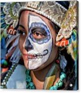 Dia De Los Muertos - Day Of The Dead 10 15 11 Procession Acrylic Print by Robert Ullmann