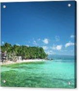 Diniwid Beach In Tropical Paradise Boracay Philippines Acrylic Print
