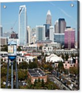 Downtown Charlotte North Carolina From The South End Acrylic Print