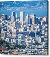 Downtown San Francisco City Street Scenes And Surroundings Acrylic Print