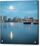 early morning sunrise over city of philadelphia PA Acrylic Print