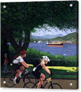 East Van Bike Ride Acrylic Print by Neil Woodward