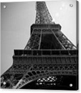 Eiffel Tower Under The Spotlight Acrylic Print