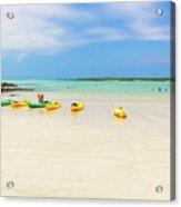 El Garrapatero Beach On Santa Cruz Island In Galapagos. Acrylic Print