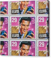 Elvis Commemorative Stamp January 8th 1993 Painted  Acrylic Print