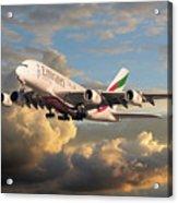 Emirates Airbus A380 Acrylic Print