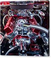 Engine Compartment Of Chromed Camaro Acrylic Print