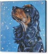 English Cocker Spaniel Acrylic Print by Lee Ann Shepard