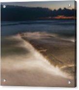 Genova Wavescape - Onde Sul Molo Con Faro Acrylic Print