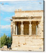 Erechtheion Temple On Acropolis Hill, Athens Greece. Acrylic Print