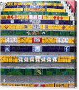 Escadaria Selaron In Rio De Janeiro Acrylic Print