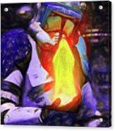 Execute Order 66 Blue Team Commander - Texturized Style Acrylic Print