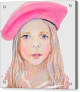 Fayanna Little French Angel Of Trust Acrylic Print