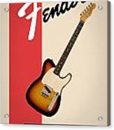 Fender Esquire 59 Acrylic Print