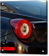 Ferrari Tail Light Acrylic Print