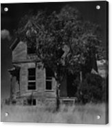 Film Homage Anthony Perkins Janet Leigh Alfred Hitchcock Psycho 1960 Vacant House Black Hills Sd '65 Acrylic Print