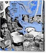 Film Homage Esther Williams Skirts Ahoy 1952 St. Patrick's Day Party Tucson Arizona 1985-2012 Acrylic Print