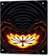 Fire Polar Coordinates Effect Acrylic Print