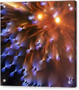 Fireworks Abstract Acrylic Print