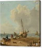 Fisherfolk Unloading Their Catch On Freshwater Bay Acrylic Print