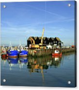 Fishing Boats At Whitstable Harbour 03 Acrylic Print
