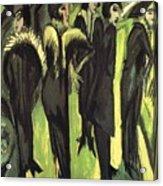 Five Women At The Street Acrylic Print