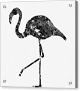 Flamingo-black Acrylic Print