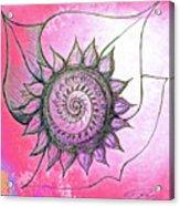Flora Blushing Acrylic Print