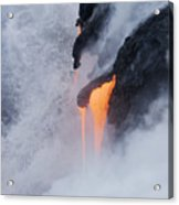 Flowing Pahoehoe Lava Acrylic Print