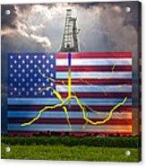 Fracking In The U.s Acrylic Print