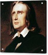 Franz Liszt (1811-1886) Acrylic Print