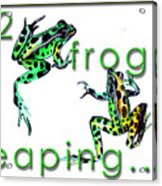 2 Frogs Leaping Acrylic Print