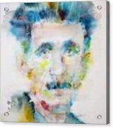 George Orwell - Watercolor Portrait Acrylic Print