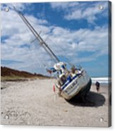 Ghost Ship Beached By Hurricane Irma Acrylic Print