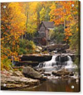 Glade Creek Grist Mill - Fall Acrylic Print